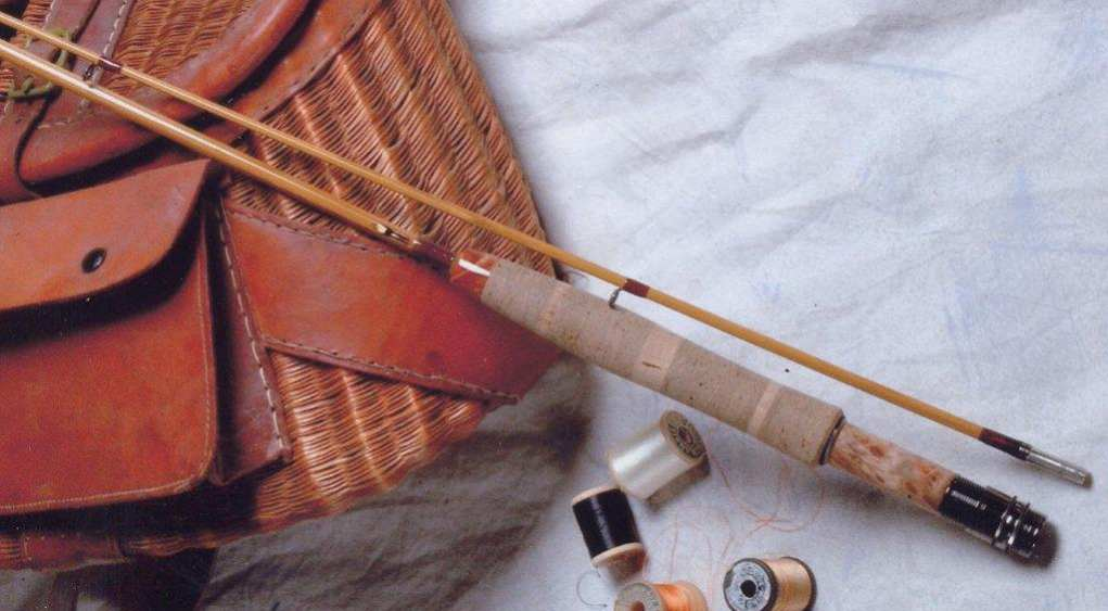 bamboo fly rod and creel