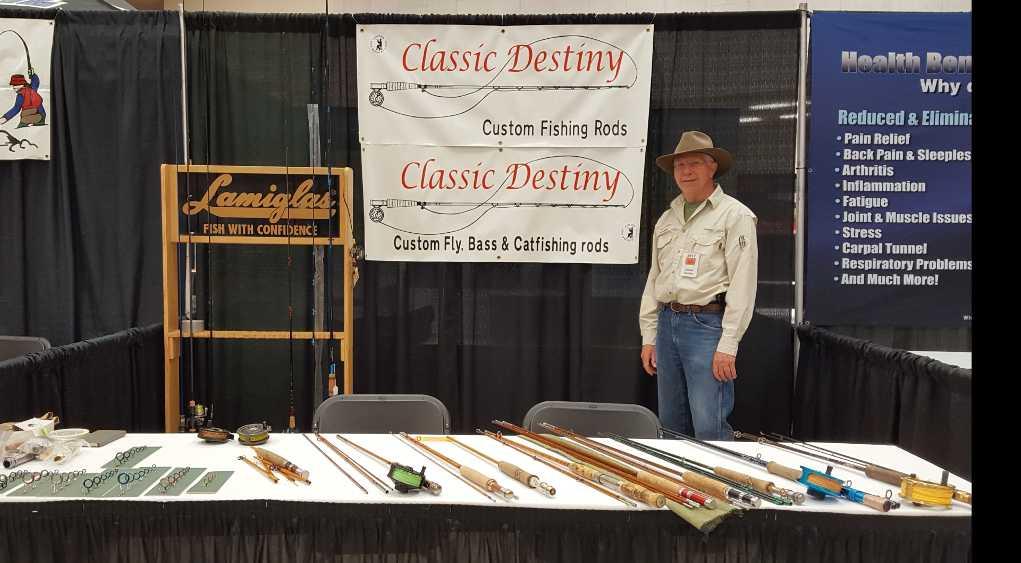neal hall custom rod building show booth