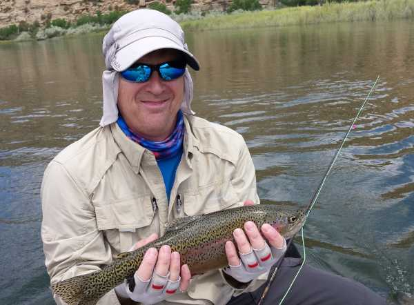 Darin Beesley with fish caught on classic destiny custom rod